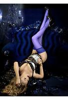 Ballerina. BA Art. 518 halterlose Strümpfe blau 20den.  Spitze. Größe L/XL
