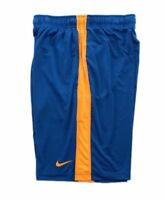 Men's Nike Dri-Fit Basketball Shorts Small Elastic Waistband Blue Yellow Stripe