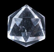 isocaèdre de pierres précieuses cristal de Roche Géométrique figurine