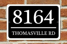 "Personalized Home Address Sign Aluminum 12"" x 8"" Custom House Number Plaque"