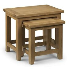 Julian Bowen Astoria Nest of 2 Tables in Waxed Oak AST005
