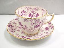 Radfords Fenton Bone China The Gatineau Purple Floral Pattern Tea Cup & Saucer