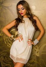 Miniabito Vestitino Donna Vestito Abito JAUNE ROUGE C060 Tg  L