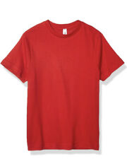 AquaGuard Men's Heavyweight Combed Ringspun Cotton, T-Shirt Red, Small