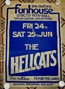 Hellcats 1977 poster Warwick Gilbert Radio Birdman artwork Ron Peno Died Pretty