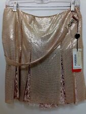 Gianni Versace Shirt Heavy Metal And Lace Size 42 NWT $8000 Champagne Pink