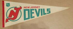 New Jersey Devils 1970's / 1980's Vintage NHL Hockey Team Pennant