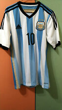 Lionel Messi Signed Argentina Home Football Soccer Shirt Autograph Jersey ICONS
