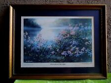 "Art Print Artist Tom Bluemien ""Flowers In The Mist"" Matted & Framed 16"" x 22"""