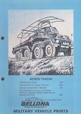 BELLONA Military Vehicle Prints Series 12 (SDKFZS, Light Tank Stuart, Opel)