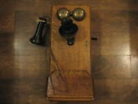 Western Electric Antique Wooden Wall Phone