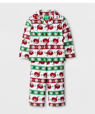 Sesame Street Christmas Elmo Toddler Boys Flannel Sleepwear Pajama Set SIZE 2T