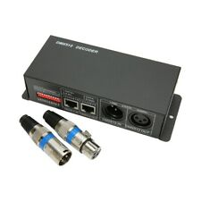 DMX 512 Controller Decoder Dimmer LED RGB Streifen Licht Verstärker 3 Kanal 12A