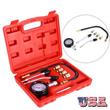 Professional Petrol Gas Engine Cylinder Compression Tester Gauge Kit Free Ship