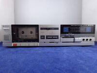 Vintage Hitachi D-E26 Stereo Cassette Tape Deck ~ For Parts or Repair