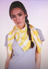 Kate Spade Sailor Striped Yellow/Ivory Silk Scarf 36 x 37 ~ NWT~