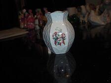 Vtg Belleek ireland 6 sided small flower vase