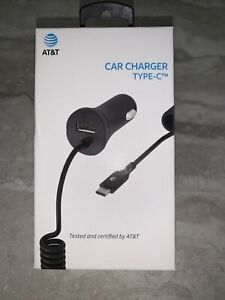 NEW Authentic OEM AT&T Car Charger for USB Type C Black
