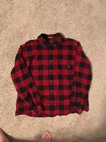 mens eddie bauer Buffalo plaid flannel shirt xxl