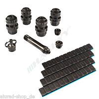 4 OptiVent Ventile Metallventil 11,3mm + 4 Klebegewichte Wuchtgewichte / SCHWARZ