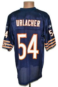 NFL CHICAGO BEARS AMERICAN FOOTBALL SHIRT REEBOK SIZE L ADULT #54 URLACHER