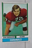 1974 Topps #32 Dan Dierdorf HOF St. Louis Cardinals / Michigan Wolverines