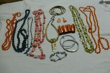 Job lot bundle of mainly Vintage bracelets necklaces and earrings