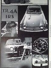 Vintage 1966 Triumph TR4A Original Print Ad Standard Triumph Motor Co.
