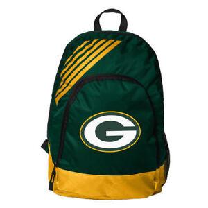 Green Bay Packers BackPack Back Pack Book Sports Gym School Bag Border Stripe