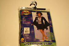 Halloween Sensations Victorian Vamp Costume Purple and Black NEW Childs Size Med