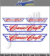 CRUISE CRAFT - DECAL 4 PACK - BOAT DECALS