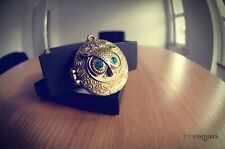 NEW Owl Locket Pendant Charm Vintage Necklace Chain Fashion Jewelry Gift