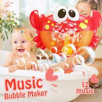 cute water toys funny bath bubble maker children music crab bubble bath toy
