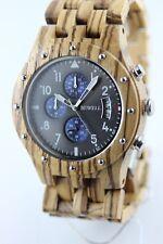 Bewell reloj de madera fecha Cronógrafo Rotessandelholz 46mm regalo genial