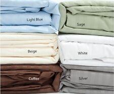 Full Size Coffee 400 Thread Count 100% Cotton Sateen Dobby Stripe Sheet Set