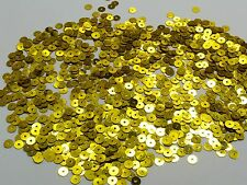 40000 Gold 5mm Flat Round loose sequins Paillettes sewing Wedding craft