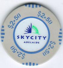 $2.50 Sky City Casino - Adelaide - Casino Chip no longer avail.-Rare-