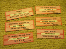 lot of 6 JUKEBOX TITLE STRIPS ray parker jr ghost buster jamie   45