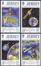 Jersey 1991 Europa/Espace/satellites/cartes/Météo/COMMUNICATIONS 4 V Set (n28197)