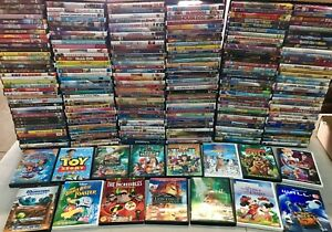 50 Kids DVD LOT WHOLESALE ASSORTED Children's Movies & Tv Shows Disney Included!