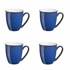 Denby Imperial Blue Coffee Mug Beakers 0.3ltr 4 Pack 1st Quality 40% Off RRP