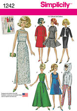 "Simplicity Pattern 1242 Vintage Styles for 11 1/2"" Dolls doll clothes patterns"