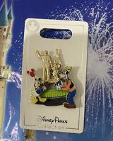 Disney Parks Walt Disney & Mickey Mouse PARTNERS STATUE Donald Goofy Trading Pin