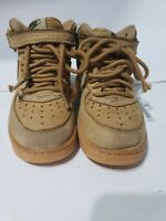 Kids Nike Air Force 1 Mid LV8 PS Flax Wheat Gum AF1 859337-200 11C Boys