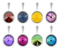 Sterling Silver Rivoli Boucles d/'oreilles crochets fait avec 6428 12 mm Swarovski ® cristaux