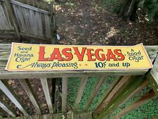 "Vintage 1940's Las Vegas Seed Cigar Tobacco 23"" Gas Station Sign"