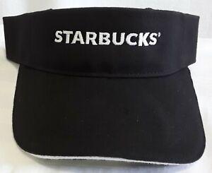 Starbucks Visor One Size New Logo Black White Embroidered