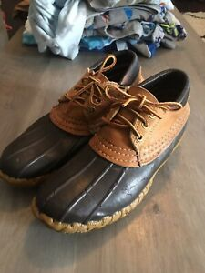 Vintage L.L. Bean Maine Hunting Shoe Muck Gum Duck Boots Shoes Size 6 Womens
