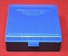 357 Mag / 38 Spl Ammo Box / Case / Storage 100 Rnd Boxes Blue Color