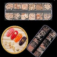 Mixed Shape Metal Alloy 3D Decoration Nail Art Tips Manicure DIY Rivet Studs